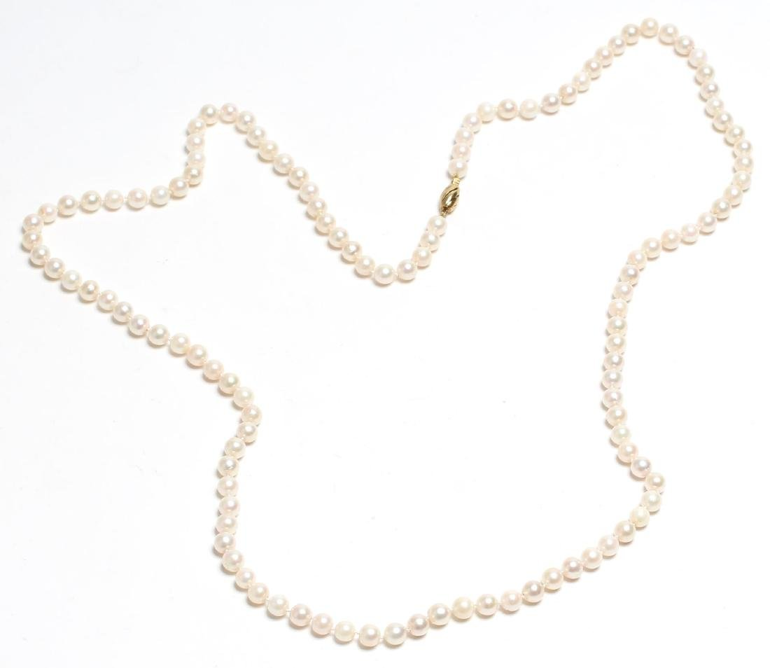 Freshwater Pearl Necklace, with 14K Gold Clasp