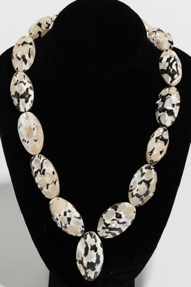 Mother-of-Pearl Mosaic Bead Necklace