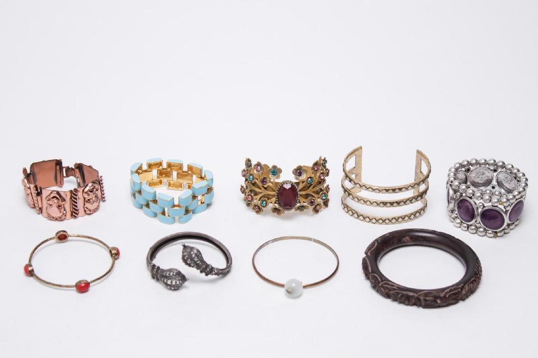 Victorian Antique Silver & More Vintage Bracelets