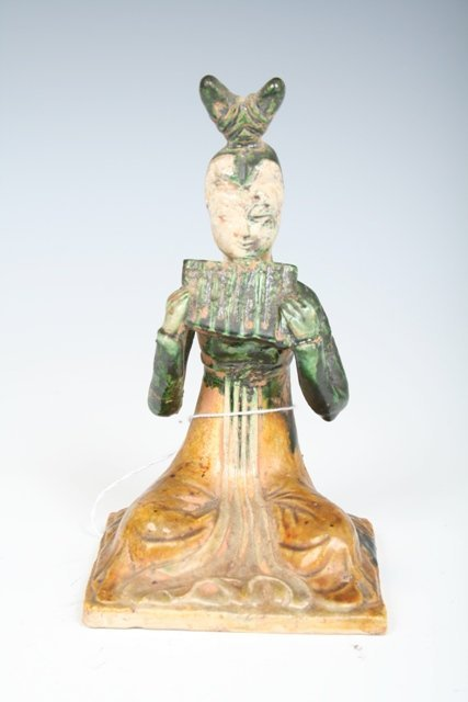607: Tang Dynasty Pottery Lady with a Flute