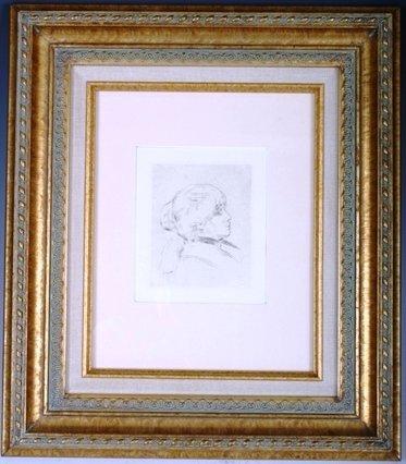 805: August Renoir Portrait Etching