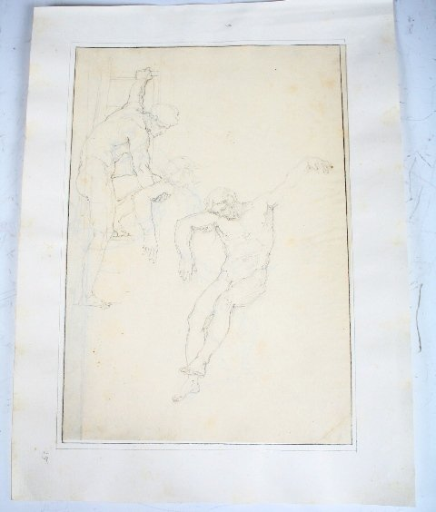 2001: Vincenzo Camuccini Pencil on Paper Study of Men