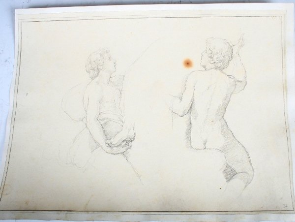 2003: Vincenzo Camuccini Pencil Study of Two Youth