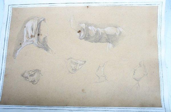 2004: Vincenzo Camuccini Pencil & Pastel Study 19th C.