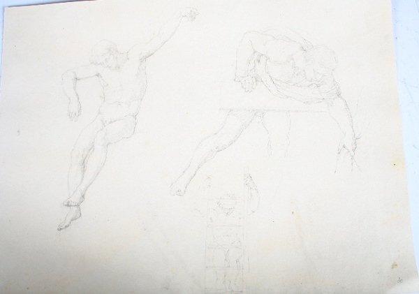 2006: Vincenzo Camuccini Italian Pencil Study Men 19 C.