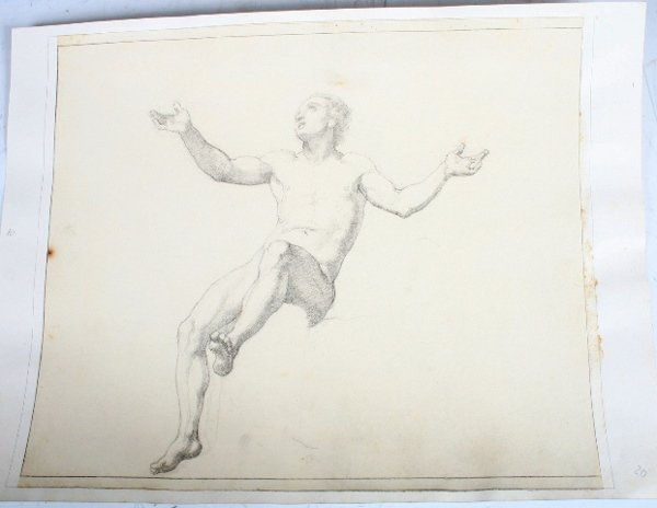 2007: Vincenzo Camuccini, Italian Pencil Study of Man