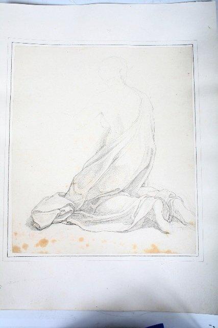 2008: Vincenzo Camuccini, Italian Pencil Study Woman Kn