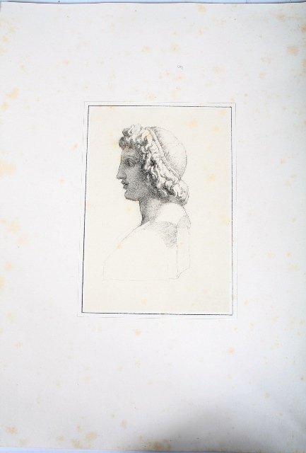 2009: Vincenzo Camuccini Pencil Neoclassical Bust Study