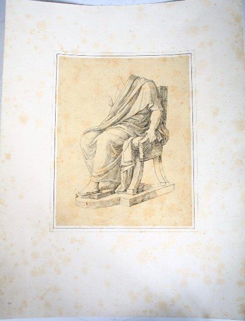 2010: Vincenzo Camuccini, Italian Pencil Study of Sitti