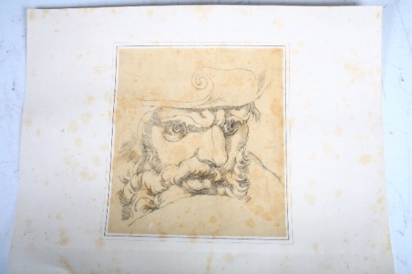 2011: Vincenzo Camuccini, Italian Pencil Study of Beard