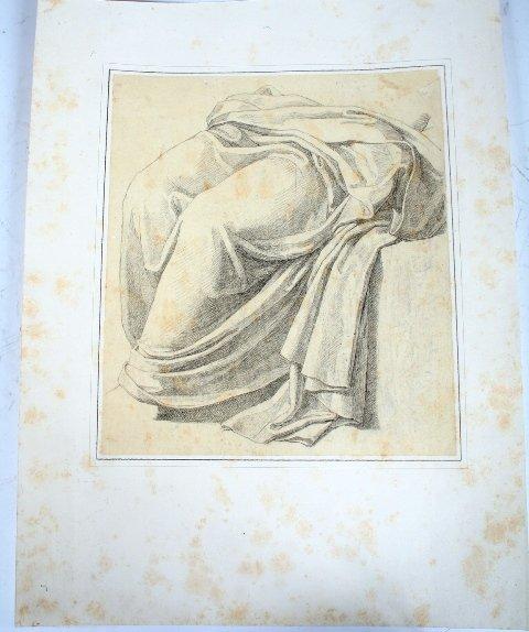 2012: Vincenzo Camuccini, Italian Pencil Study of Drape