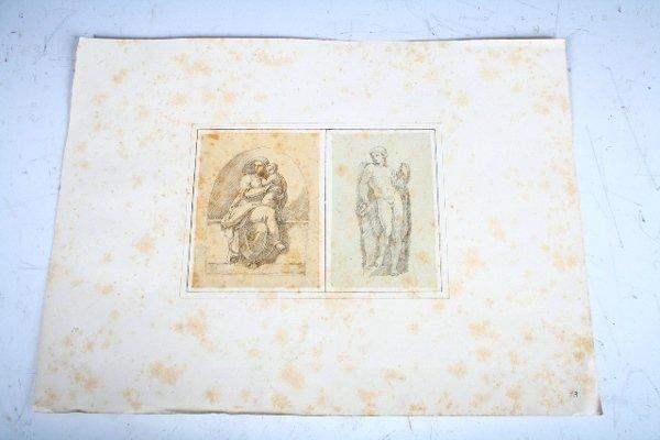 2013:Vincenzo Camuccini Pencil Study of Madonna & Child