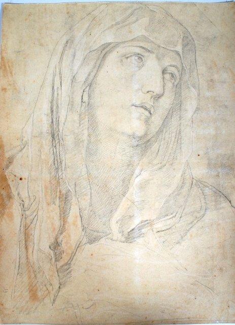 2014: Vincenzo Camuccini, Italian Pencil Study of Madon