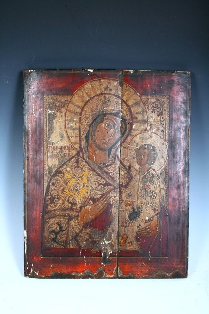 2019: 18th C Russian Icon on Wood