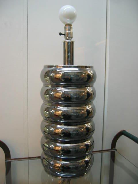 2025: Single American Kovacs Portable Chrome Lamp c1950