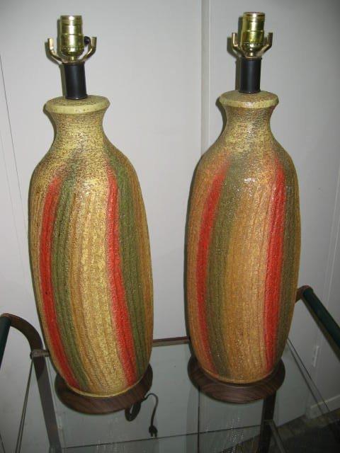 2026: Pair of American Ceramic Lamps c1950s