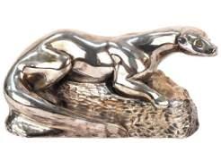 "Art Deco Otter Sculpture, Signed ""Fisher"""