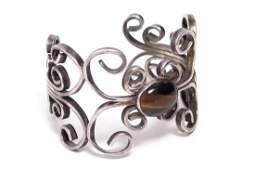 Vintage Silver & Tiger Eye Cuff Bracelet