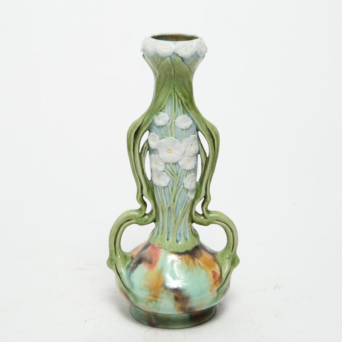 Zsolnay Pecs Vase, Antique Art Nouveau Ceramic
