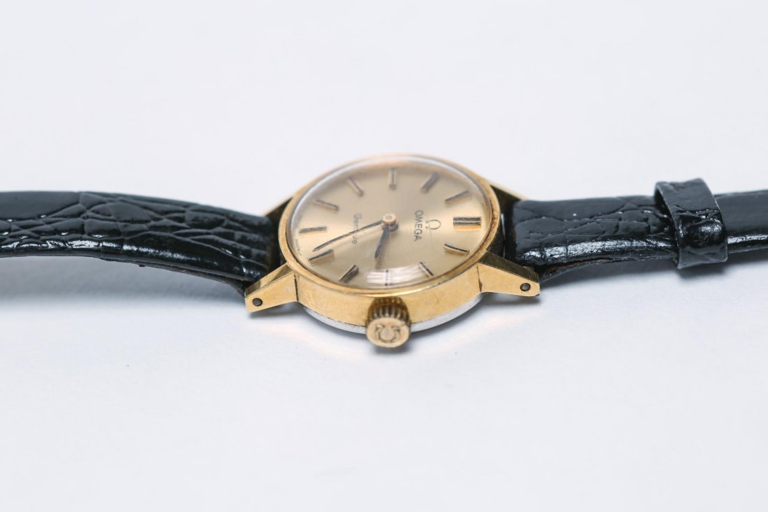 Omega Watch with Vintage 10K Gold Case - 4