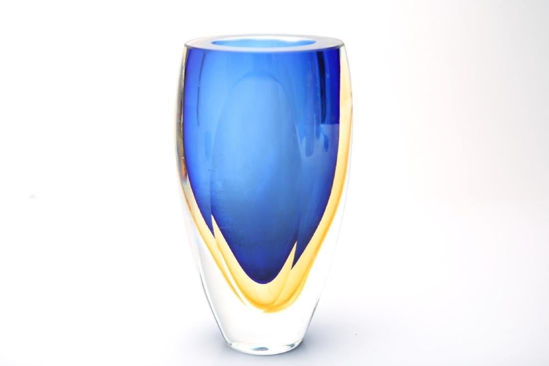 Mid-Century Kosta Boda Sommerso Cased Glass Vase