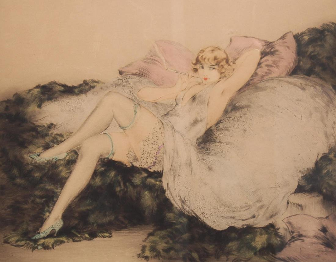 Louis Icart (French, 1888-1950)- Etching, Art Deco