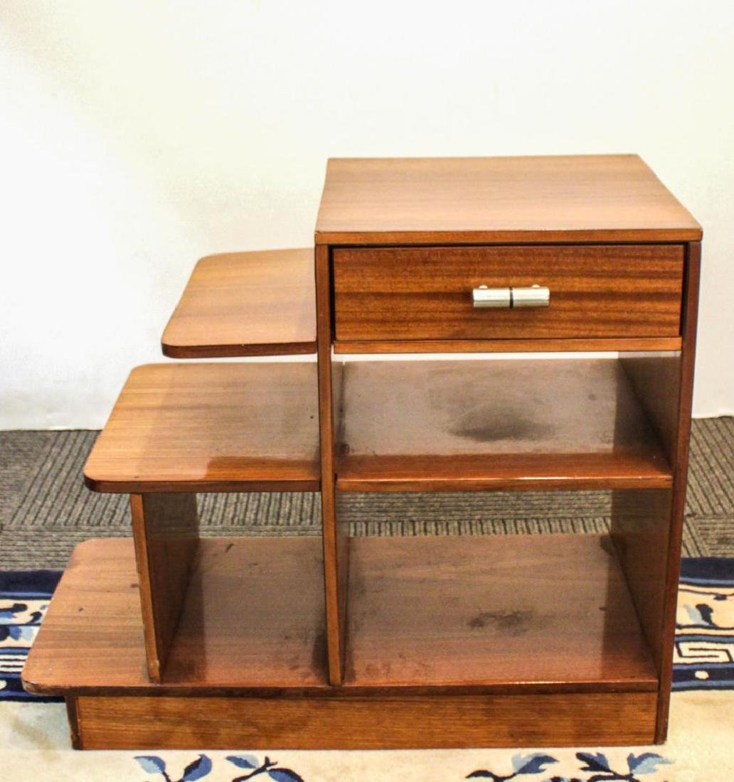 Art Deco Oak Side Table/ Magazine Stand