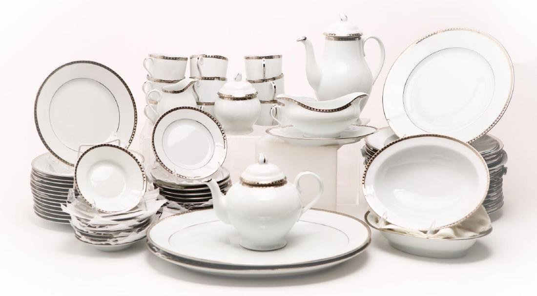 Tiffany & Co. Porcelain Dinnerware, Platinum Band