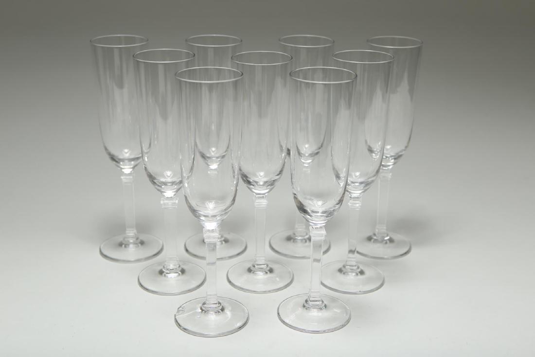 "Tiffany Crystal ""Hampton"" Champagne Flutes"