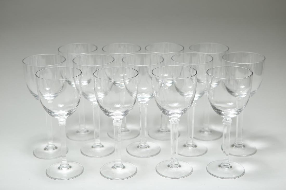 "Tiffany Crystal White Wine Glasses, ""Hampton,"" 13"