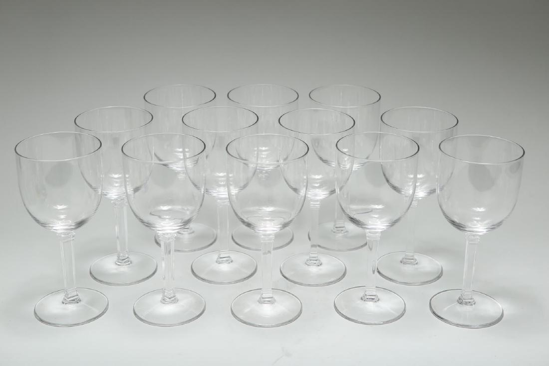 "Tiffany Crystal Red Wine Glasses, ""Hampton,"" 12"