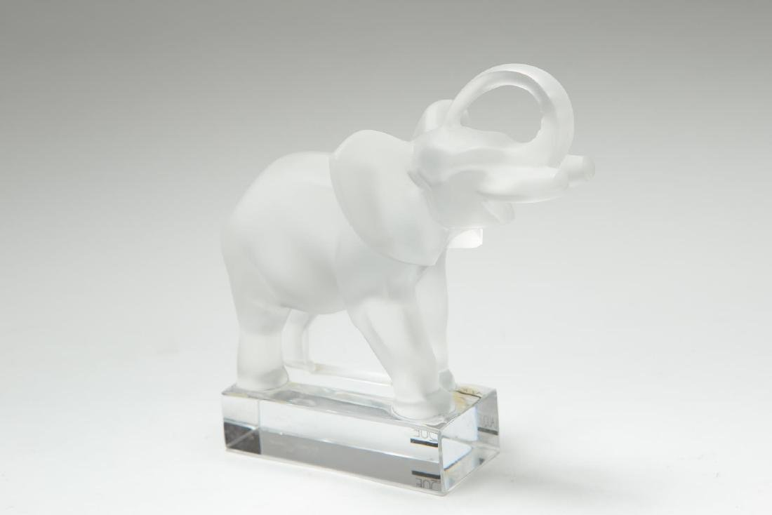 Lalique Glass Elephant Figurine or Paperweight