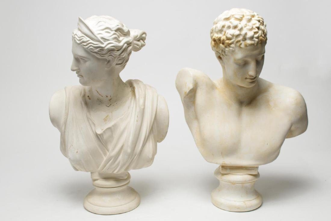 Hermes & Artemis Busts, after Ancient Greece