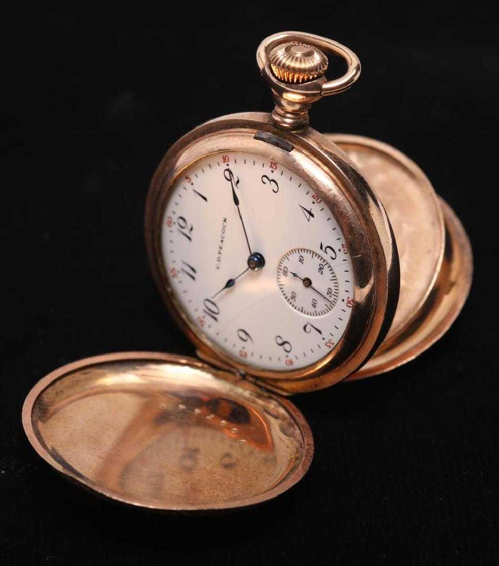 Peacockelgin Pocket Watch Antique In Hunter Case
