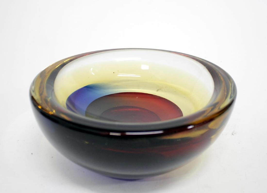 Luigi Onesto Murano Sommerso Glass Bowl