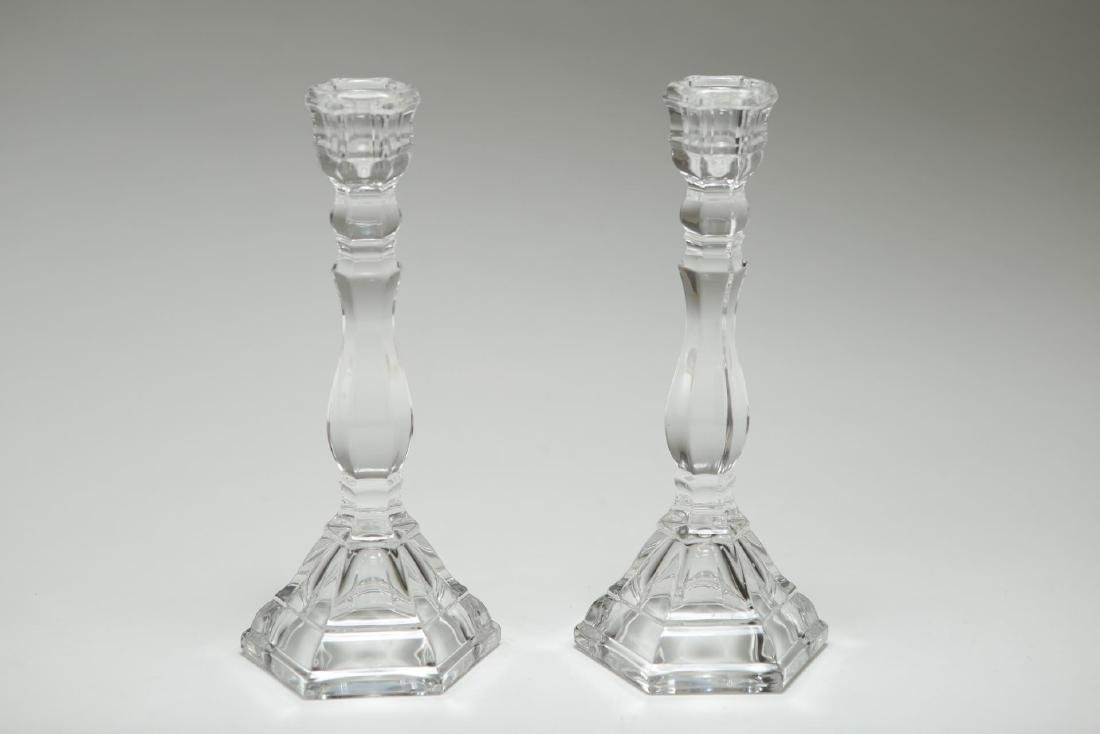 Tiffany & Co. Crystal Candlesticks, Pair