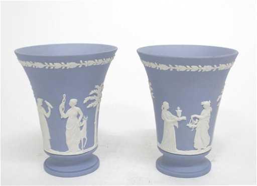 Antique Wedgwood Jasperware Vases Pair
