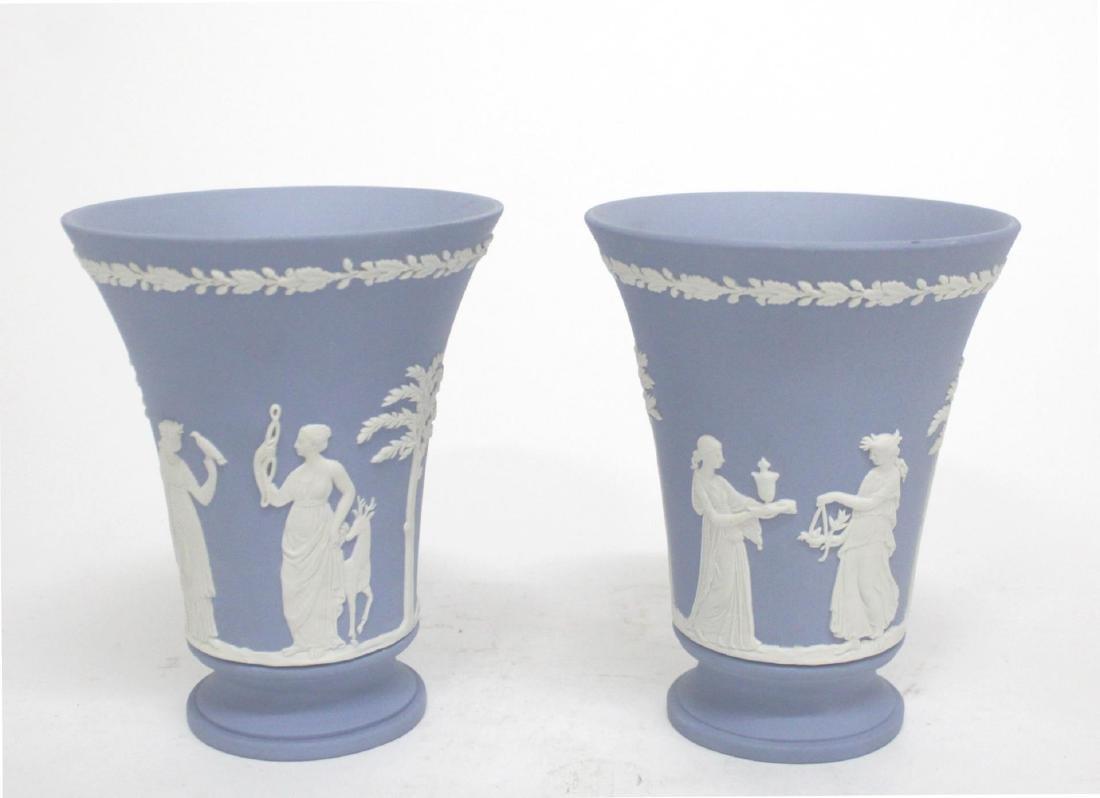 Antique Wedgwood Jasperware Vases, Pair