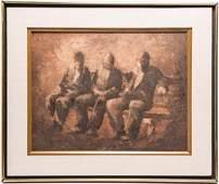 Guy Pene du Bois (American, 1884-1958)- Oil