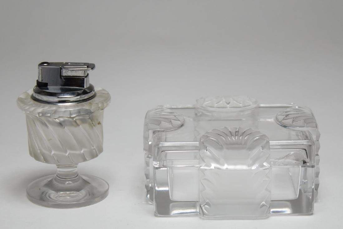 Lalique Crystal Box & Table Lighter