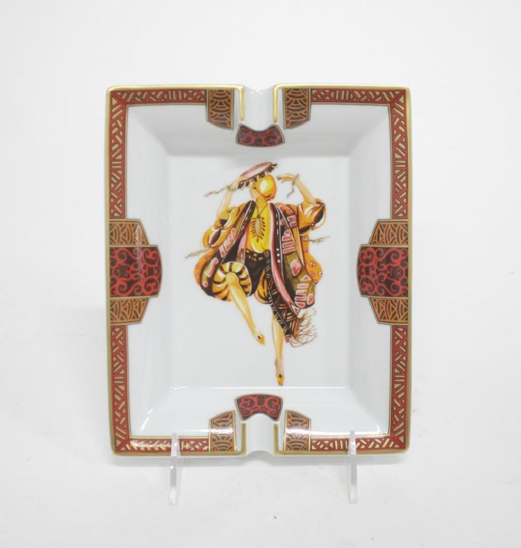 Hermes Porcelain Dish, w. Orientalist Figure