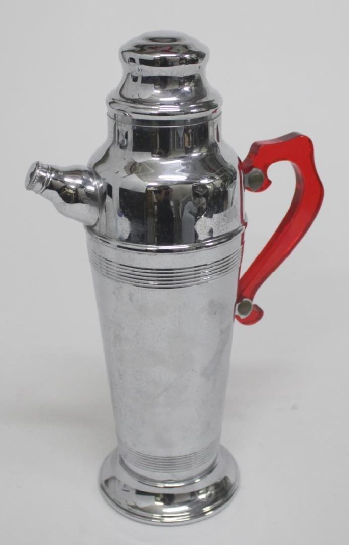 Mid-Century Cocktail Shaker, in Chrome & Bakelite
