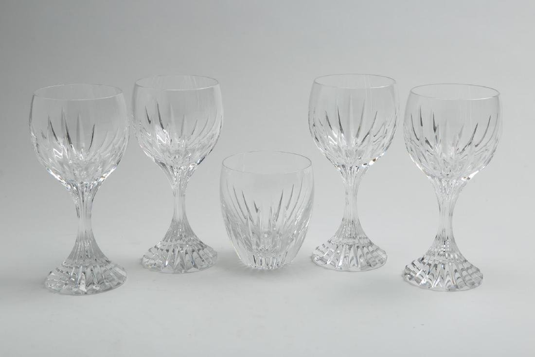 "Baccarat Crystal ""Massena"" Wine & Rocks Glasses, 5"