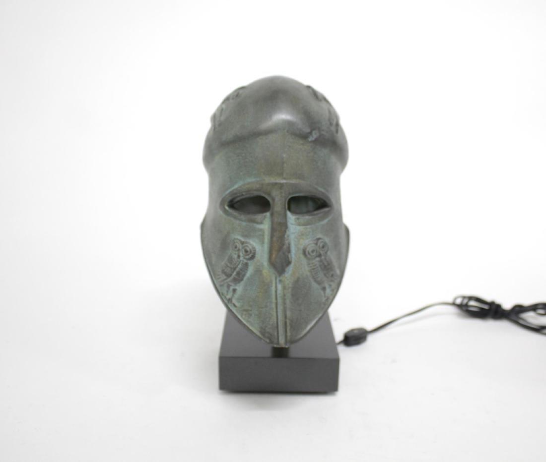Grecian Helmet Table Lamp