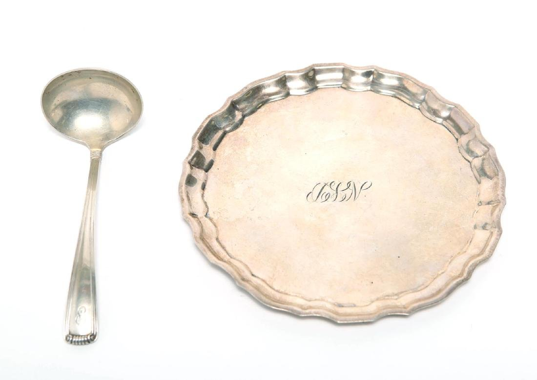 Cartier Sterling Silver Ladle & Salver or Tray