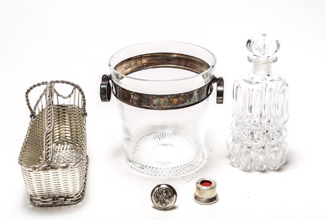 Barware, Glass & Silver inc. Tiffany, 5 Pcs.