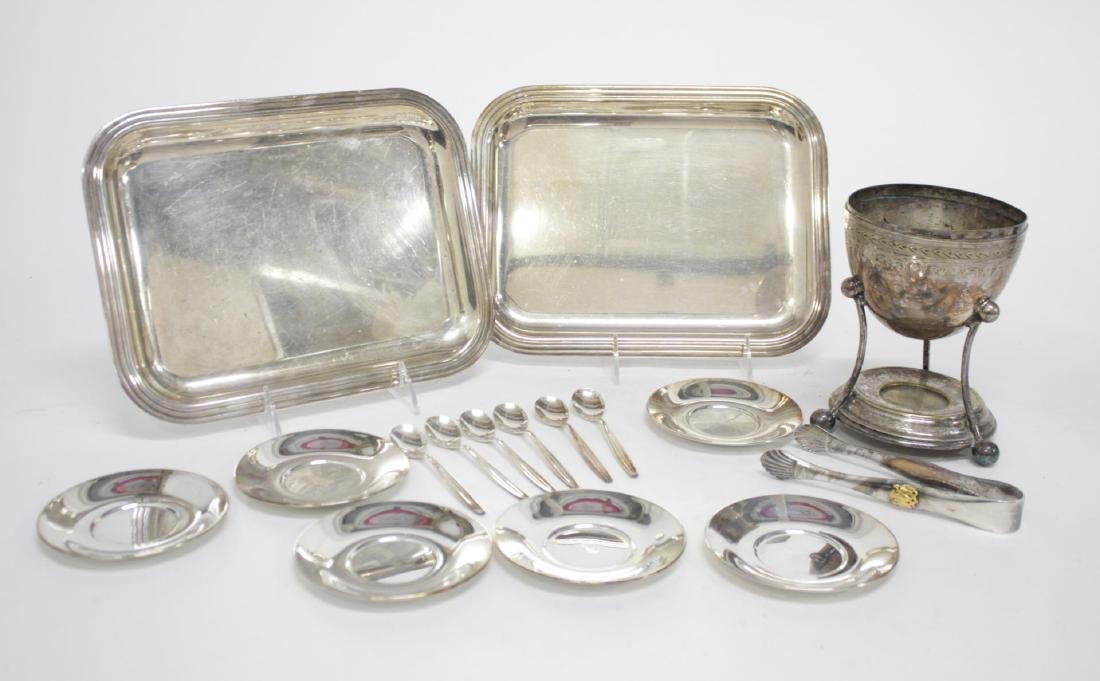 Christofle Silver-Plate Trays, & Other Utensils