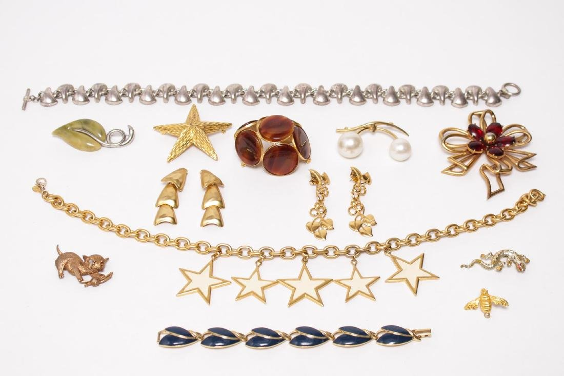 Vintage Costume Jewelry, Gold- & Silver-Tone 13pcs
