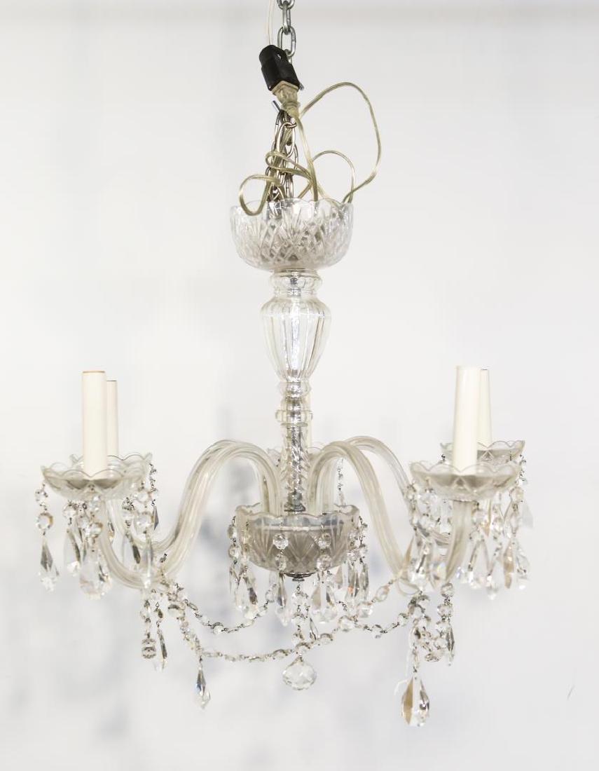 Antique Crystal Chandelier, 5-Light