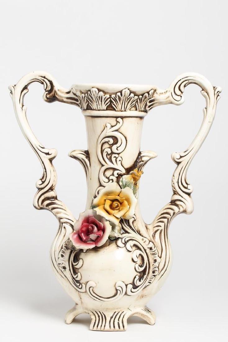 Capodimonte Porcelain Flower Vase